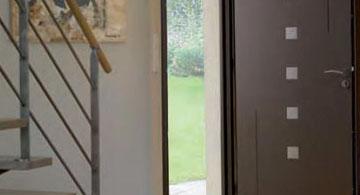 Portes d'entrée PVC BOIS ALU